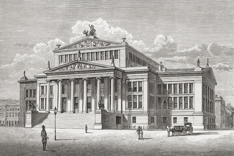 vintage berlin welsh drawing the konzerthaus gendarmenmarkt by design pics poster