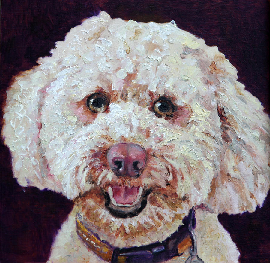 Dogs Painting - The Labradoodle by Enzie Shahmiri