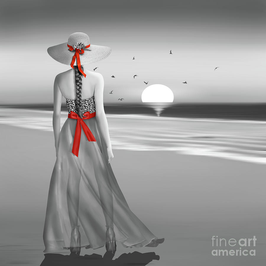 The lady at the sea by Monika Juengling