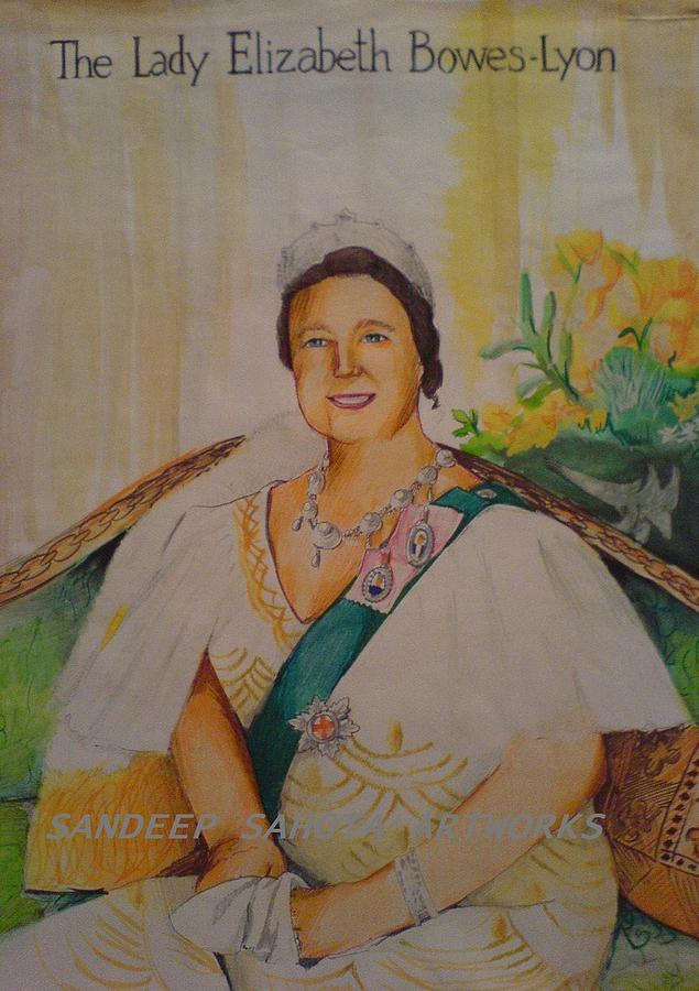 Tom Cruise Painting - The Lady Elizabeth Bowes-lyon by Sandeep Kumar Sahota