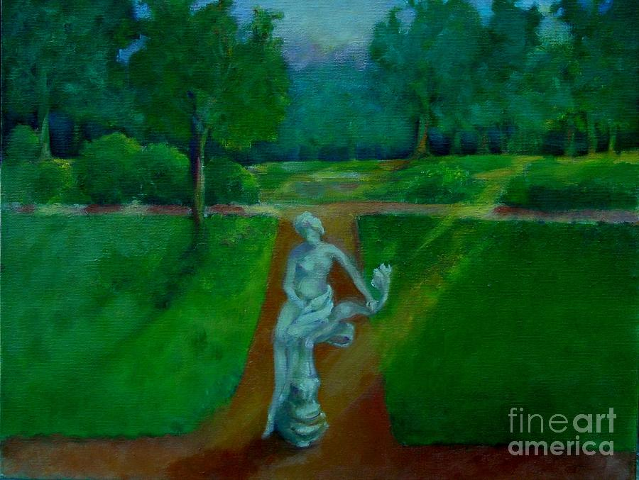 Landscape Painting - The Lady In The Park     Copyrighted by Kathleen Hoekstra