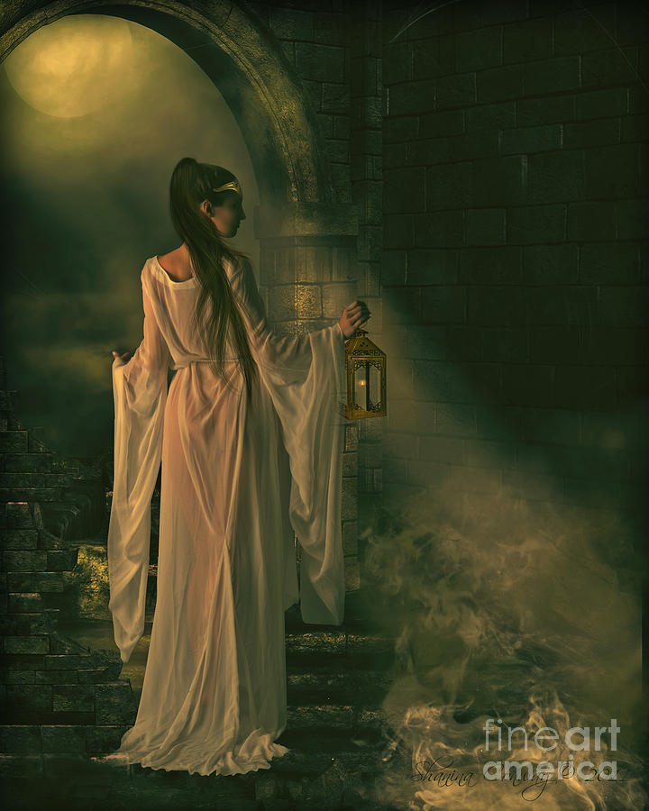 Lady Of Shalott Digital Art - The Lady Of Shalott by Shanina Conway