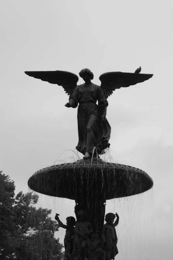 Bethesda Fountain Photograph - The Lady Of The Waters by Christopher Kirby