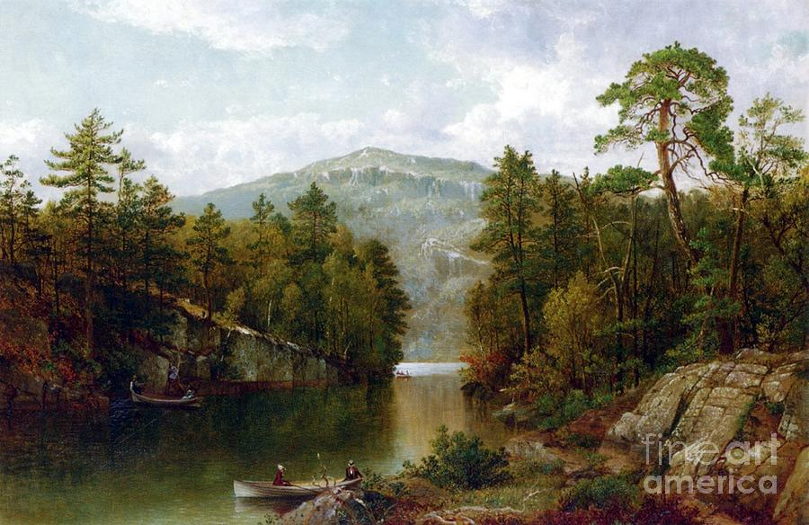 The Lake George Painting - The Lake George by David Johnson