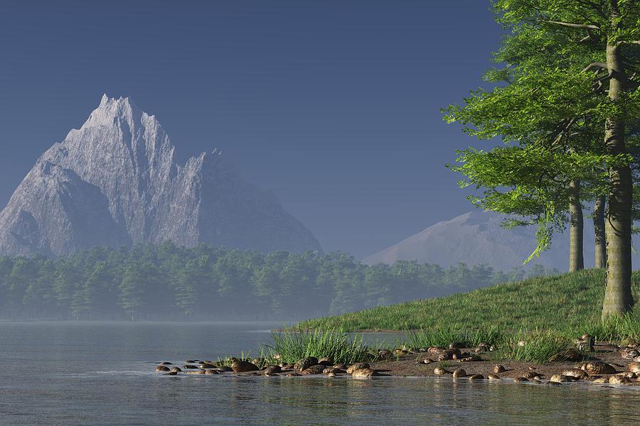 Lake Digital Art - The Lake by Mindscape Arts