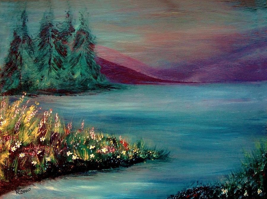Landscape Painting - The Lake by Robin Monroe