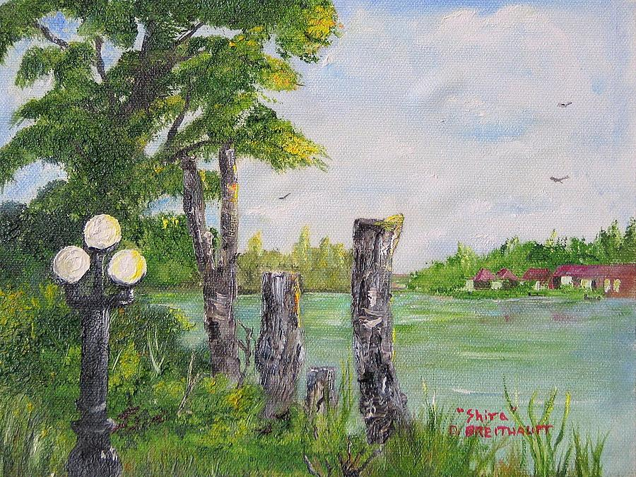Florida Painting - The Lakes Of Margate In Margate Florida by Shira Diana Breithaupt