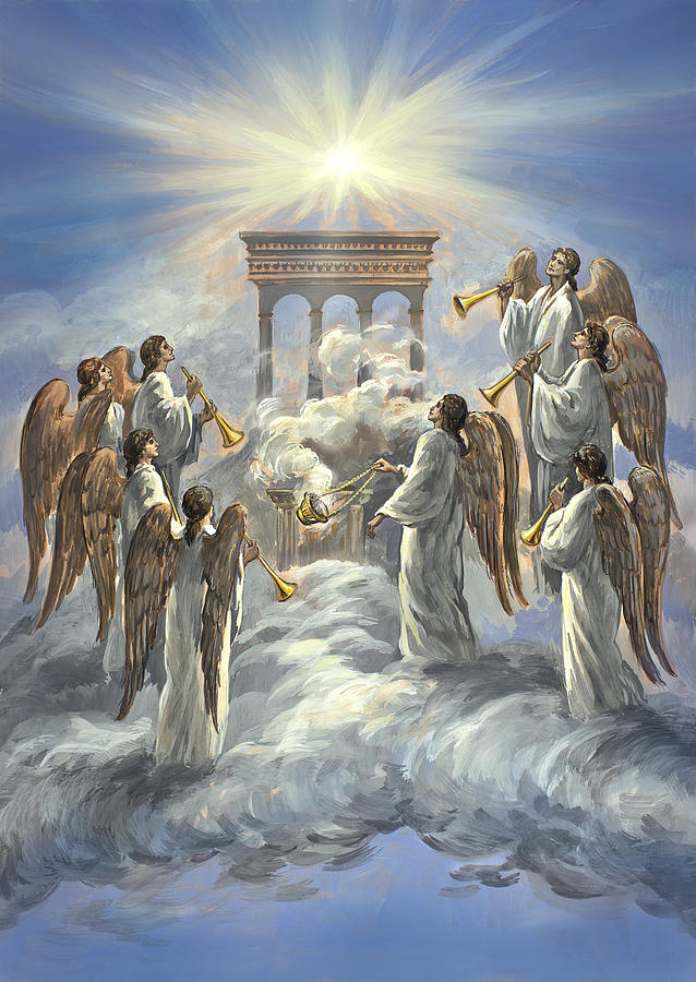 Revelation 8 The Lamb Breaks The Seventh Seal Painting By