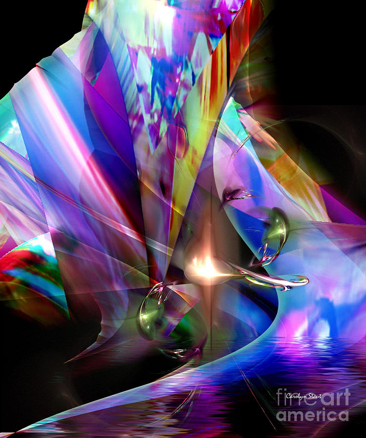 The Lamp Light Digital Art by Carolyn Staut