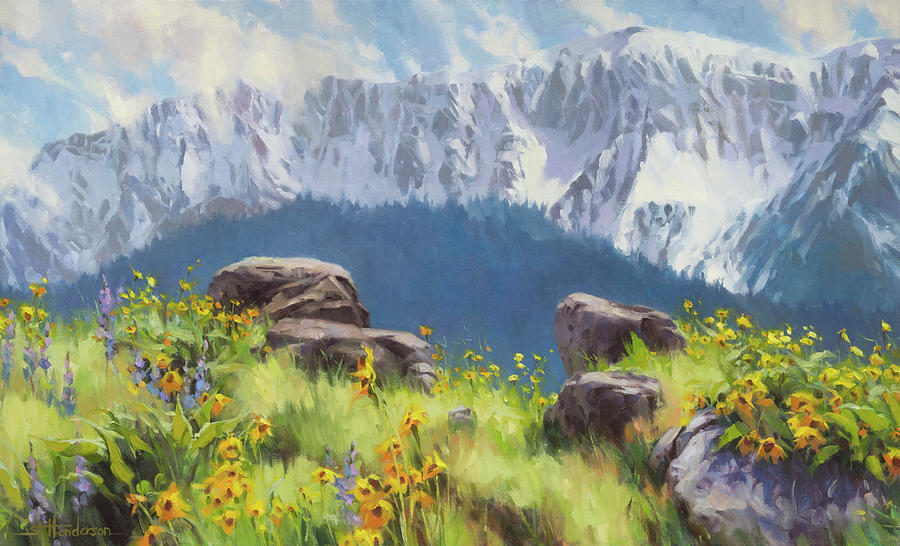Landscape Painting - The Land Of Chief Joseph by Steve Henderson