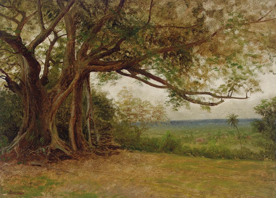 Hudson River School Painting - The Landing Of Columbus by Albert Bierstadt