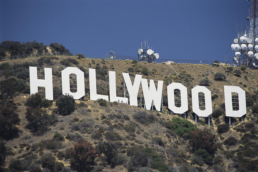 North America Photograph - The Landmark Hollywood Sign by Richard Nowitz