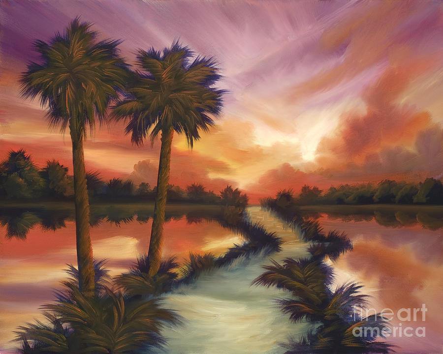 Skyscape Painting - The Lane Ahead by James Christopher Hill