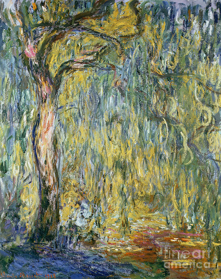 Claude Painting - The Large Willow At Giverny by Claude Monet