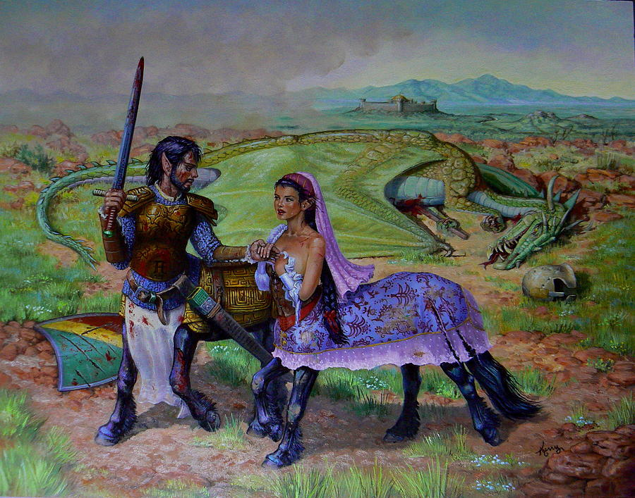 The Last Abduction Painting by Kerry Nelson