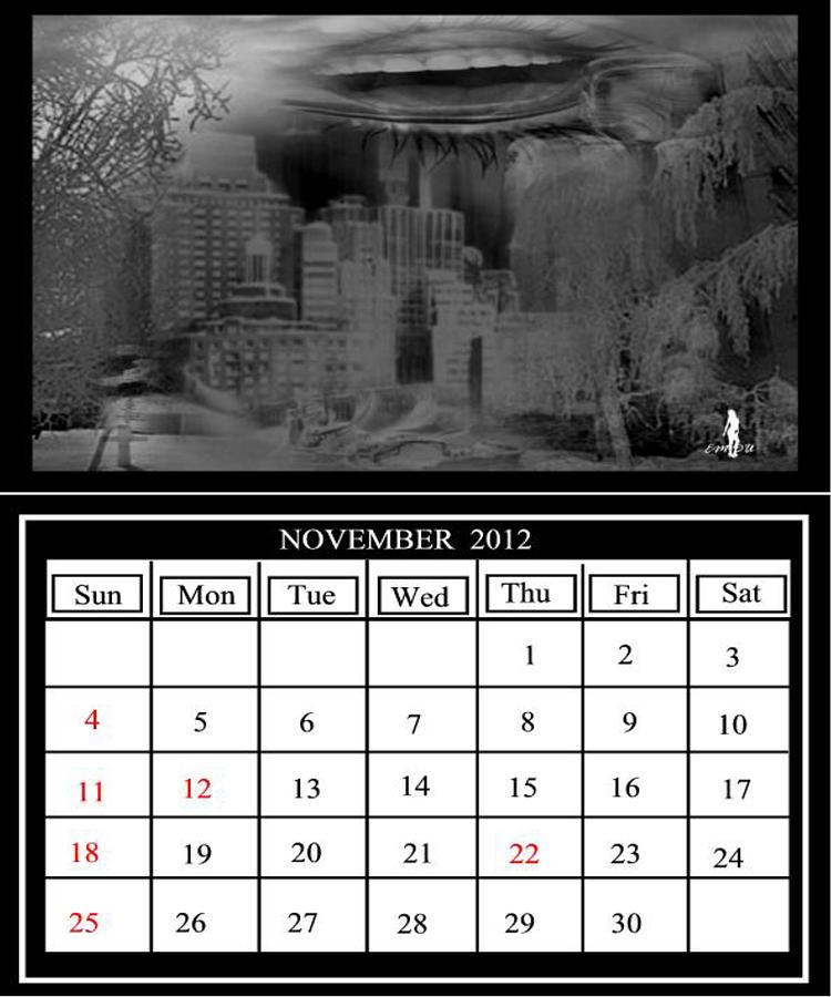 The Last Calendar Digital Art by Maria Datzreiter