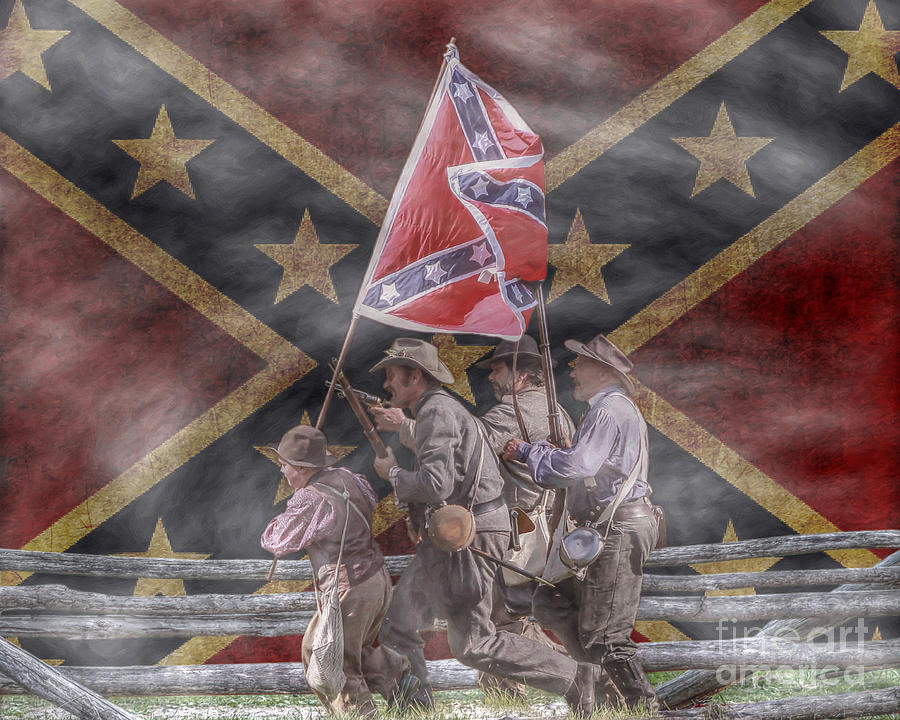 The Last Charge Confederate Flag Version Digital Art by ...