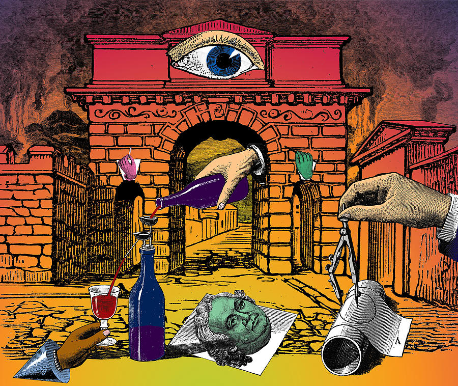 Herculaneum Digital Art - The Last Days Of Herculaneum by Eric Edelman