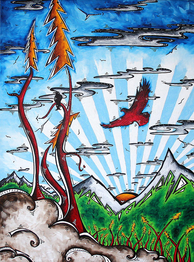Painting Painting - The Last Frontier Original Madart Painting by Megan Duncanson