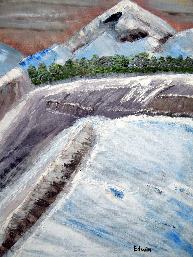 Glacier Painting - The Last Glacier by Edwin Long