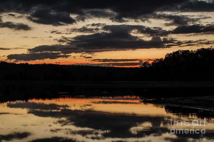 December Photograph - The Last Glow by Donna Brown