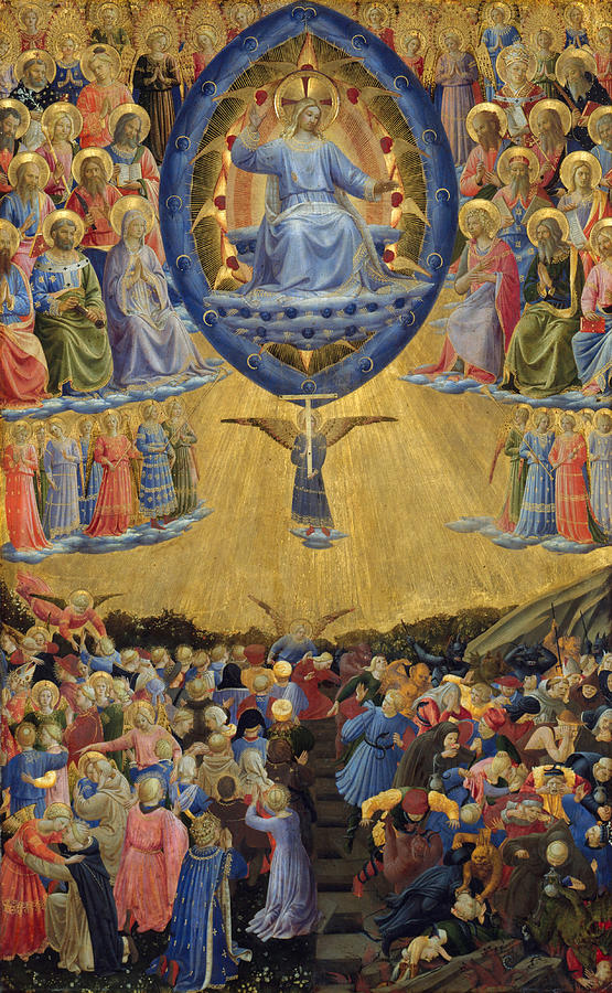 Bible Painting - The Last Judgement, Central Panel by Fra Angelico