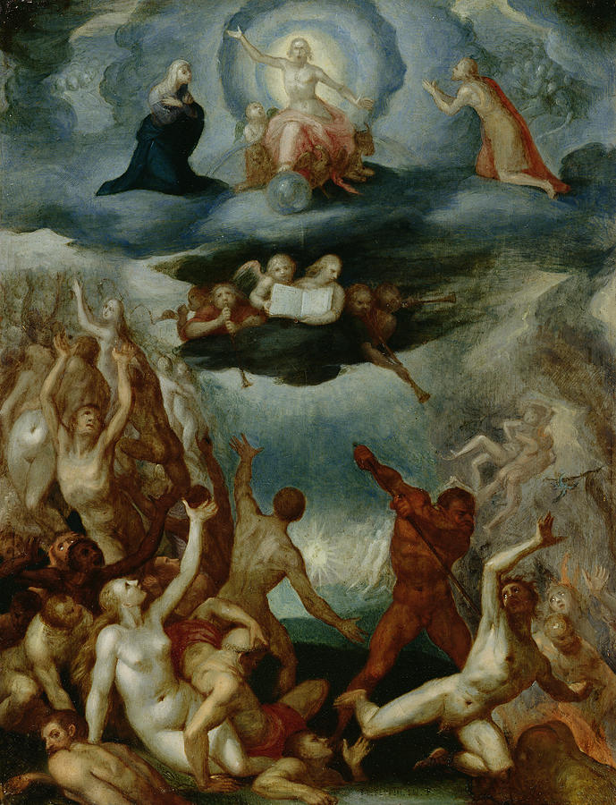 The Painting - The Last Judgement  by Martin Pepyn