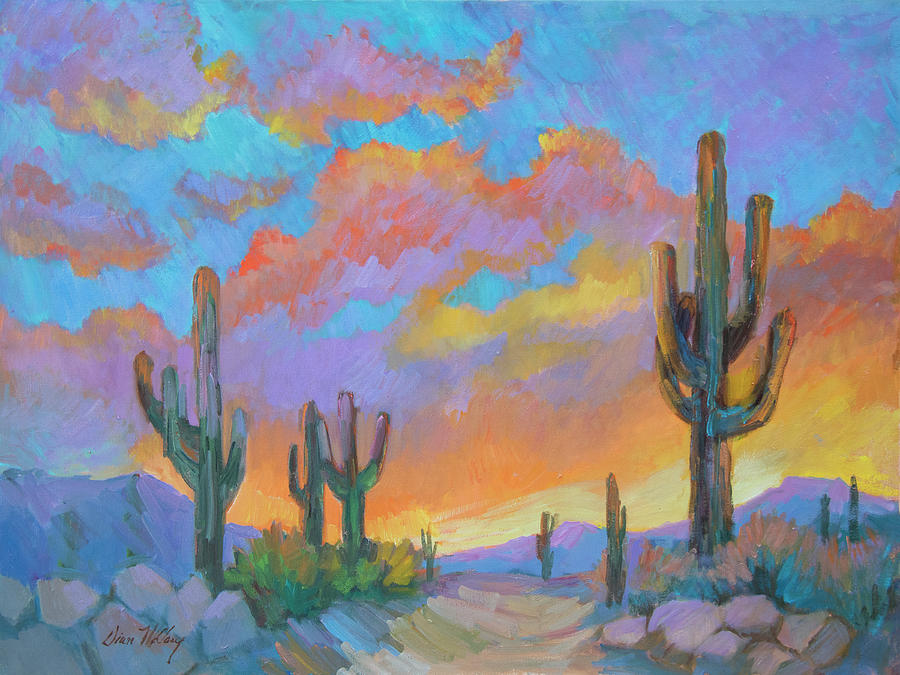 Sunset Painting - The Last Light by Diane McClary