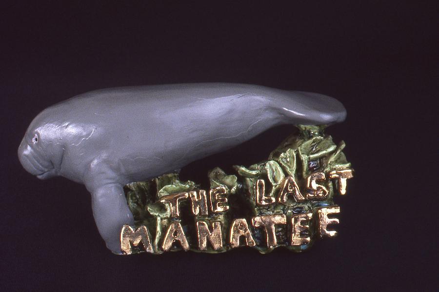 Manatee Ceramic Art - The Last Manatee by Frederick Dost