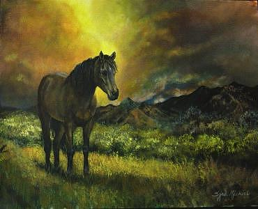 Horse Painting - The Last Of The Mustangs by Syndi Michael