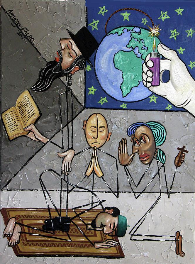 Jesus Painting - The Last Prayer by Anthony Falbo