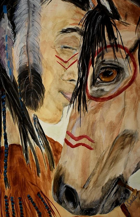 Native American Painting - The Last Ride by Susan Voidets