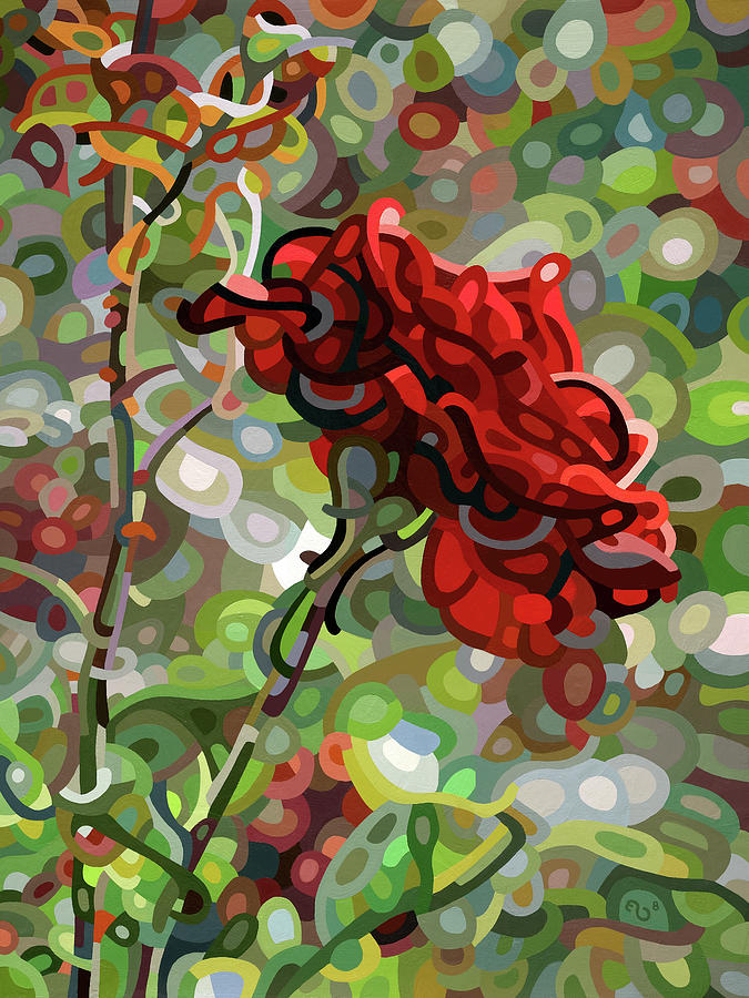 Flower Painting - The Last Rose of Summer by Mandy Budan