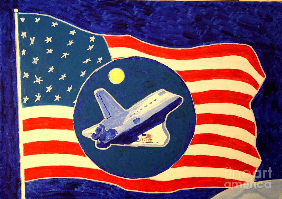 Atlantis Painting - The Last Space Shuttle by Bill Hubbard