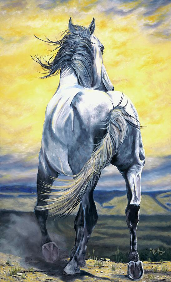 Horse Painting - The Last Stand by Melody Perez