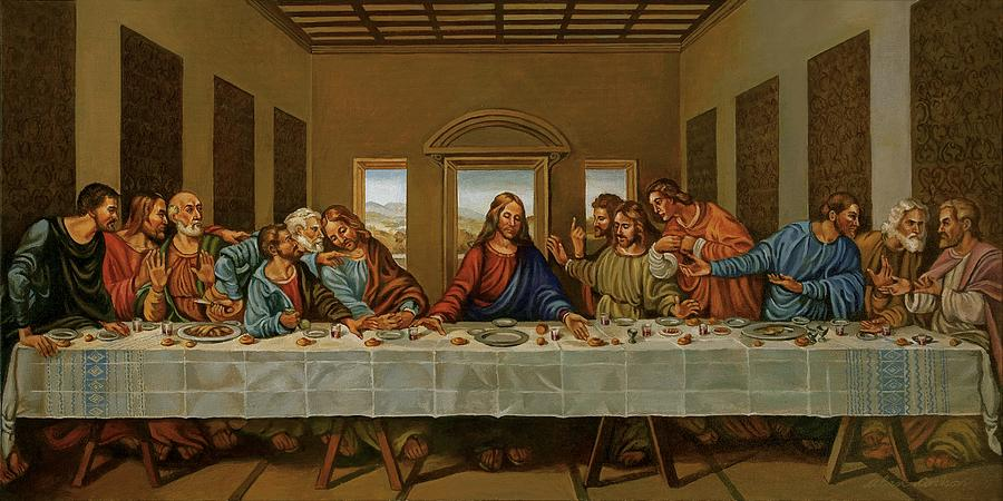 The Last Supper A Rendition Painting By Alan Carlson