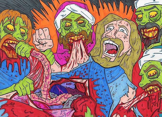 The Last Supper Drawing By Anthony Snyder