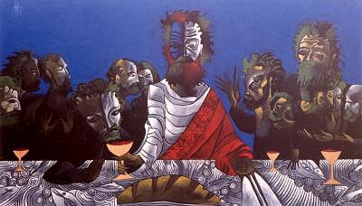Abstract Painting - The Last Supper by G Anthony Gallo