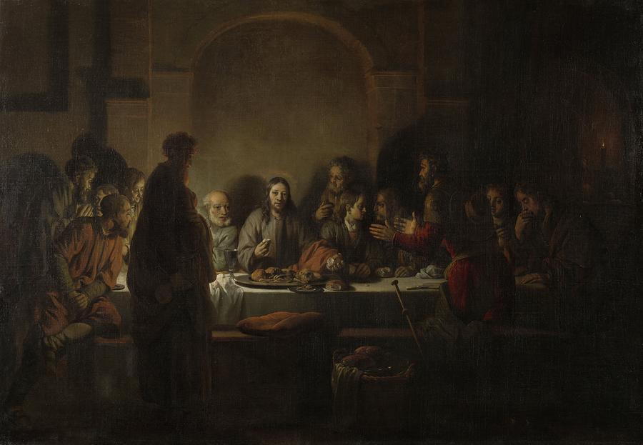 Old Testament Painting - The Last Supper by Gerbrand van den Eeckhout