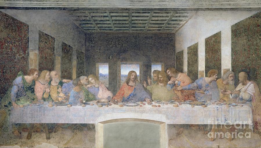 The Painting - The Last Supper by Leonardo da Vinci