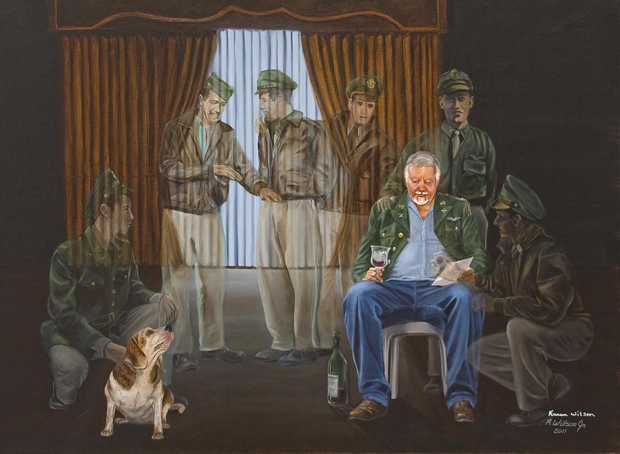 Veterans Painting - The Last Survivor by Karen Wilson