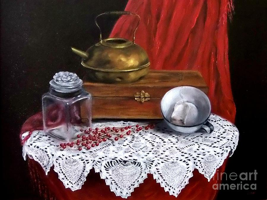 Still Life Painting - The Last Tea Bag by Patricia Lang