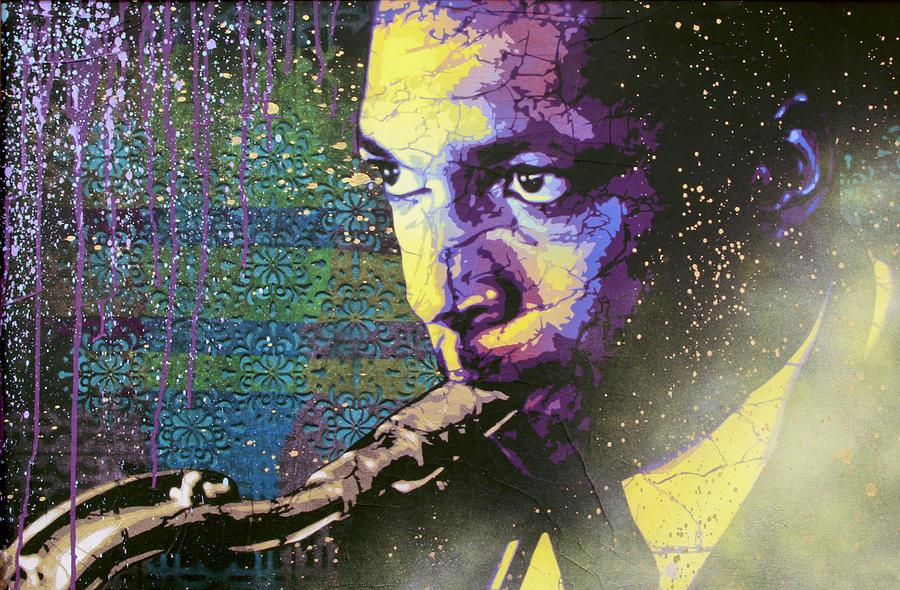 John Coltrane Painting - The Last Trane Le by Bobby Zeik