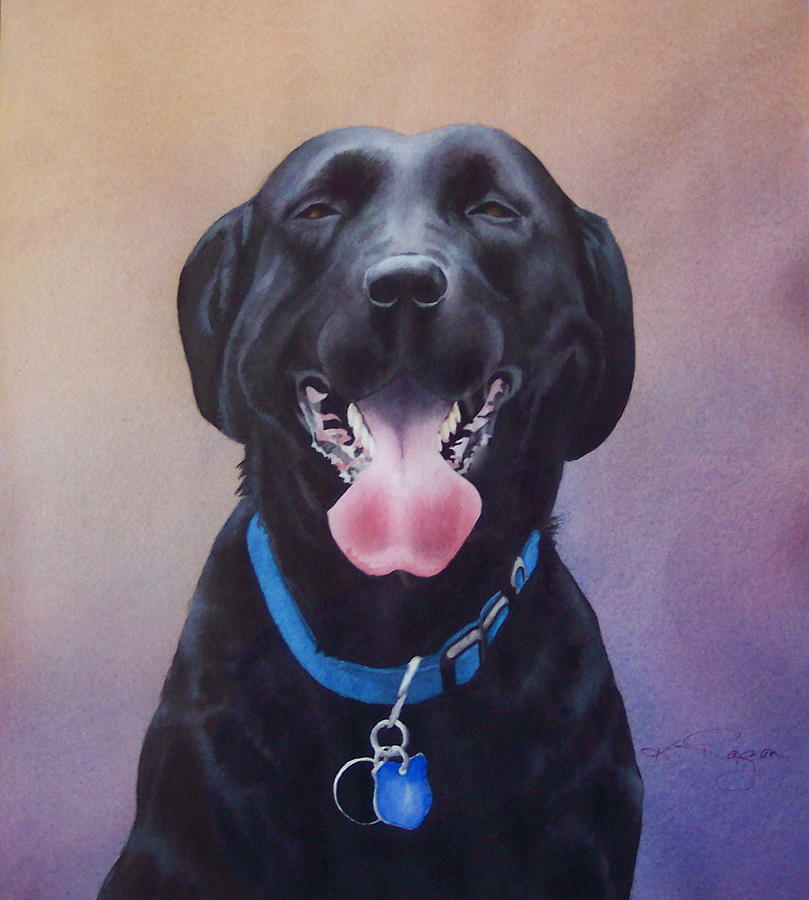 The Laughing Labrador Painting by Kathryn Ragan