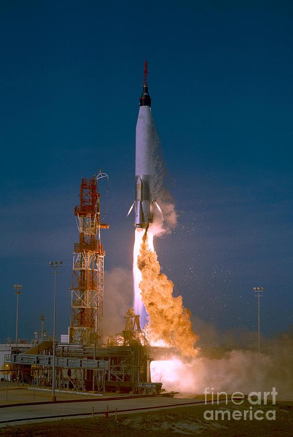 Mercury Photograph - The Launch Of The Mercury Atlas by Stocktrek Images
