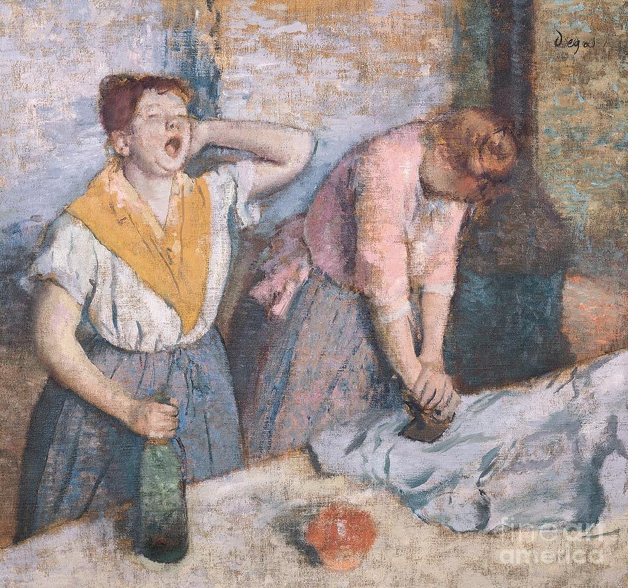 Degas Painting - The Laundresses by Edgar Degas