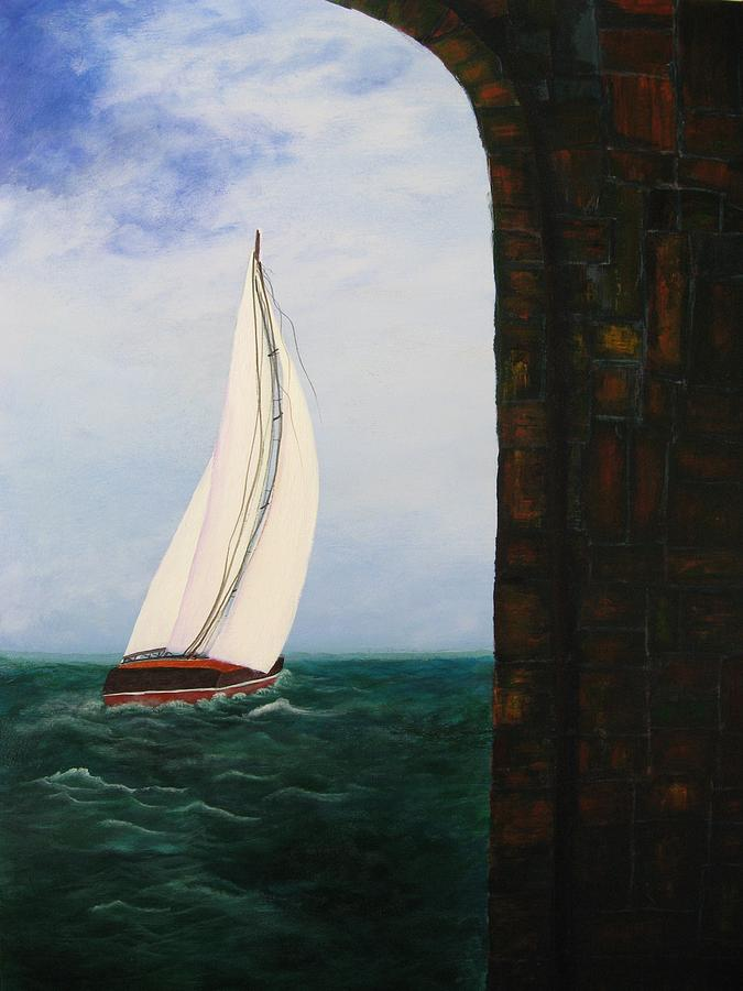 Seascape Painting - The Laurenda by Betty Reineke