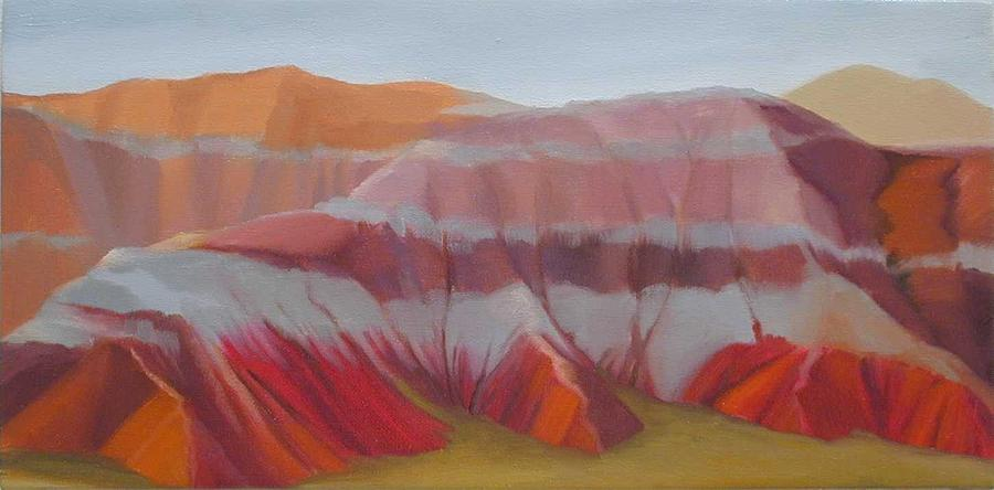 Landscape Painting - The Lavendar Hills by R Raya