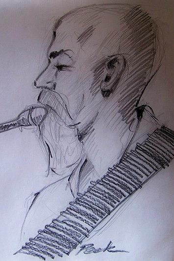 Drawing Drawing - The Leader Of The Band by Charles Peck