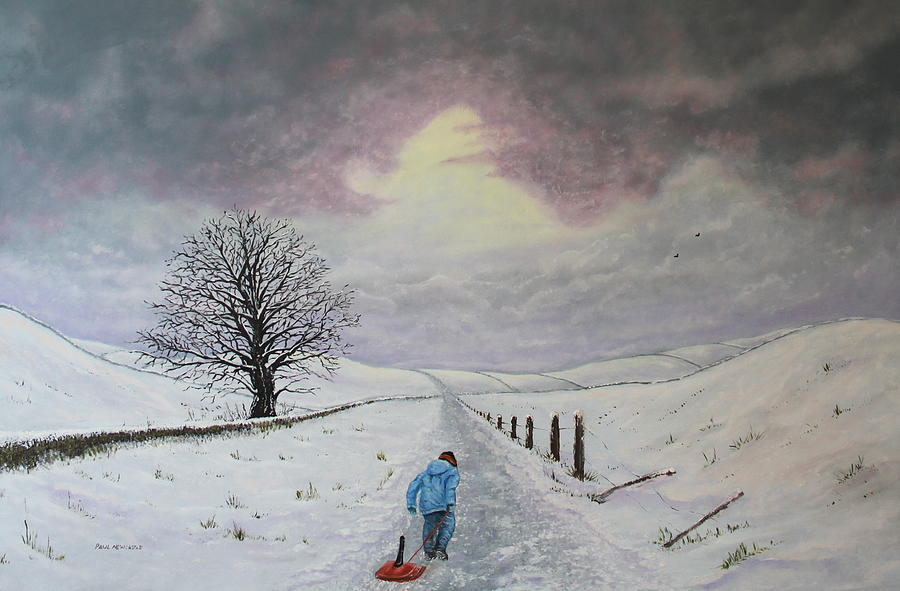 Snow Painting - The Leader Of The Pack by Paul Newcastle